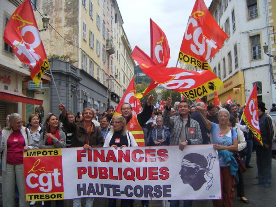 Manifestation a bastia le 9 octobre 2012